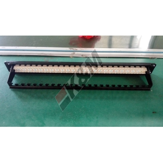 1U 24 poorten UTP CAT6 Patch Panel