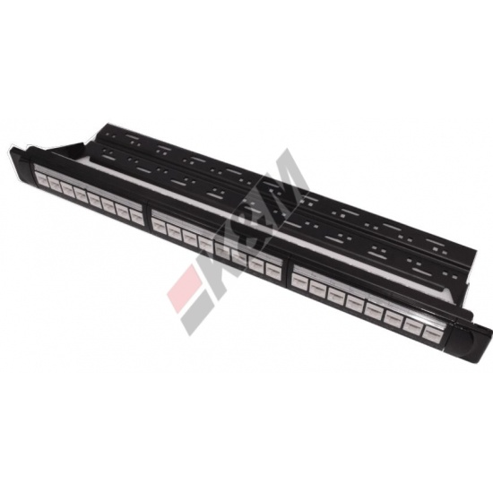 1U 24 poorten UTP CAT5E Patch Panel